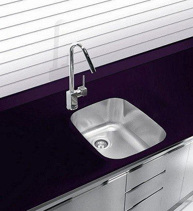 ukinox d345 8 14 inch undermount single bowl sink 8 inch