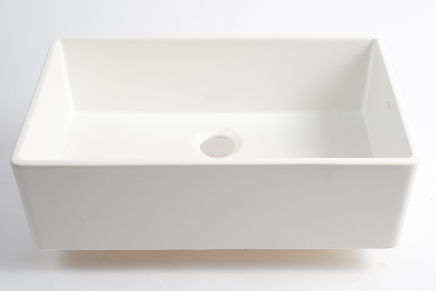 30 Inch Fireclay Farmhouse Sink : FHK710-30 Farm House 30 Inch Apron Front Single Bowl Fireclay Sink ...