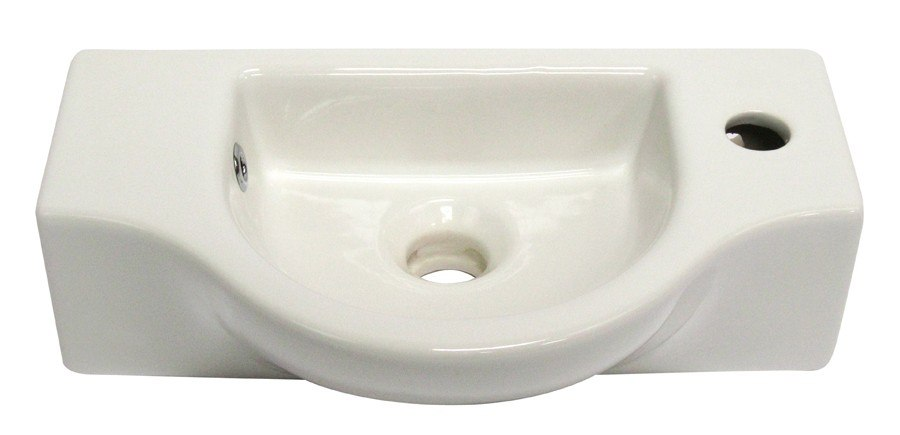 Alfi Brand AB105 Small Wall Mounted Ceramic Bathroom Sink Basin