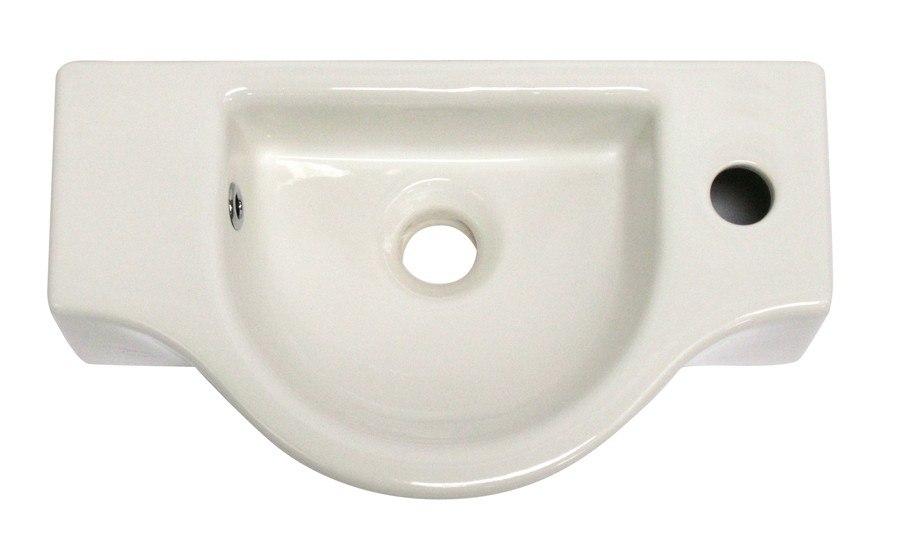 Small Wall Mount Bathroom Sink : Alfi Brand AB105 Small Wall Mounted Ceramic Bathroom Sink Basin