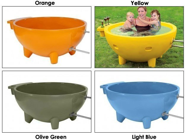 Outdoor Portable Hot Tub : Alfi firehottub round fire burning portable outdoor