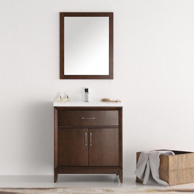 Fresca FVN2130AC Cambridge 30 Inch Antique Coffee Traditional Bathroom Vanity