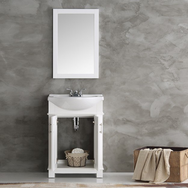 Fresca Fvn2302wh Cmb Hartford 24 Inch White Traditional Bathroom Vanity Fvn2302wh Cmb