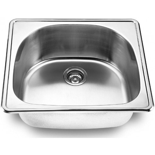 Lada Ld2225 Single Bowl 25 Inch D Shape Topmount Kitchen Sink