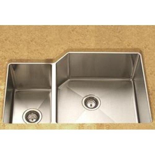 lada ld3020l undermount 36 inch offset bowl kitchen