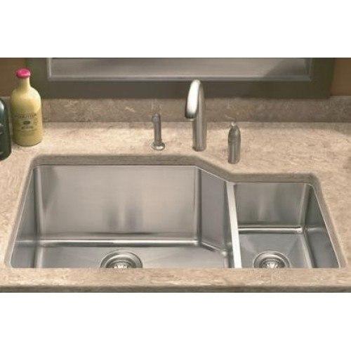 lada ld3020r undermount 36 inch offset bowl kitchen