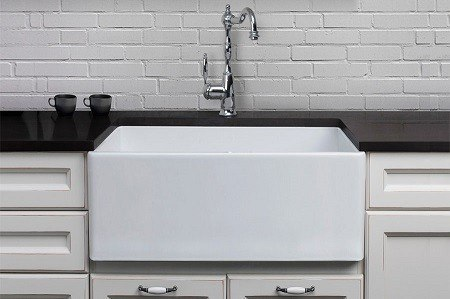 26 Inch Farmhouse Sink : AB505 Contemporary 26 Inch Smooth Fireclay Farmhouse Kitchen Sink ...