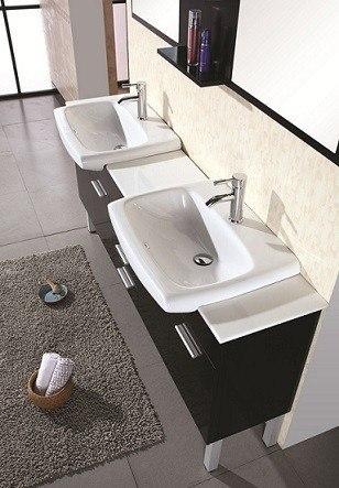 Design Element Decb Belini Two Inch Double Sink Vanity Set In Espresso