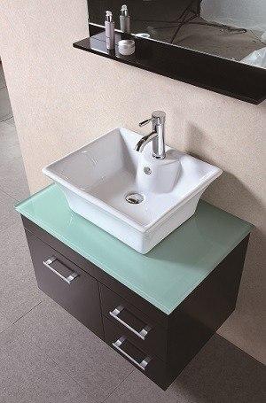 Design Element Dec1100a 30 Madrid 30 Inch Single Sink Wall Mount Vanity Set In Espresso
