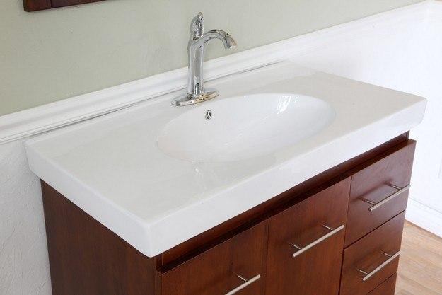 bellaterra home 203129 w r 39 inch single sink vanity wood walnut right side drawers 203129wr. Black Bedroom Furniture Sets. Home Design Ideas