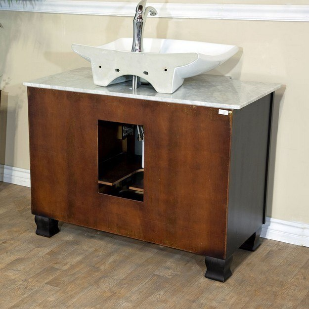 Bellaterra Home 604023a 40 Inch Single Sink Vanity Dark Mahogany 604023a