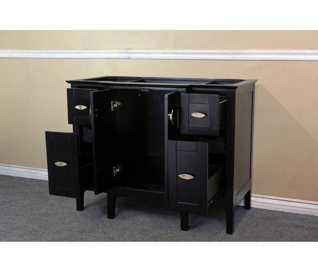 7614 es 44 inch single sink vanity wood espresso cabinet only 7614es