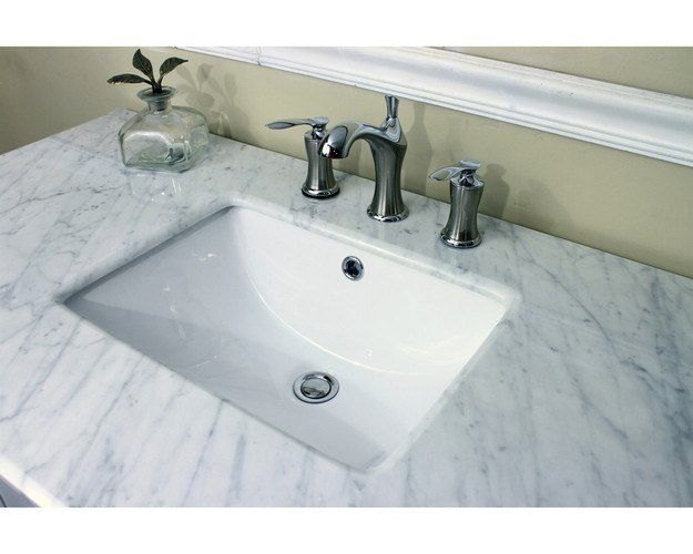 home 7614 wh 44 inch single sink vanity wood white cabinet only 7614wh