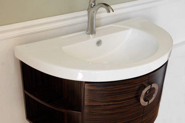 Bellaterra Home 804338 34 Inch Single Vanity Wood Ebony Zebra