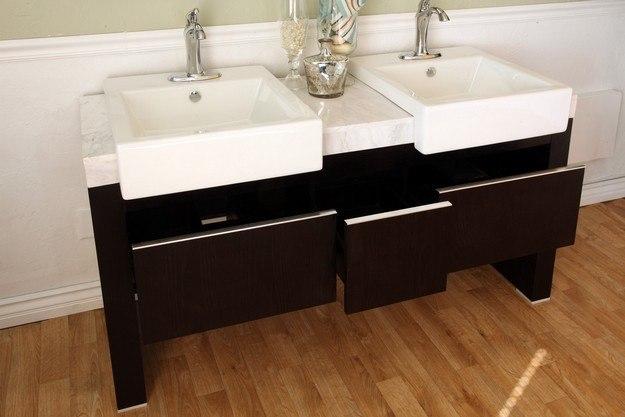 Bellaterra Home 804375 Inch Double Sink Vanity Wood Black