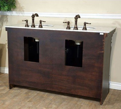 bellaterra home 605522a 55 inch double sink vanity dark mahogany. Black Bedroom Furniture Sets. Home Design Ideas