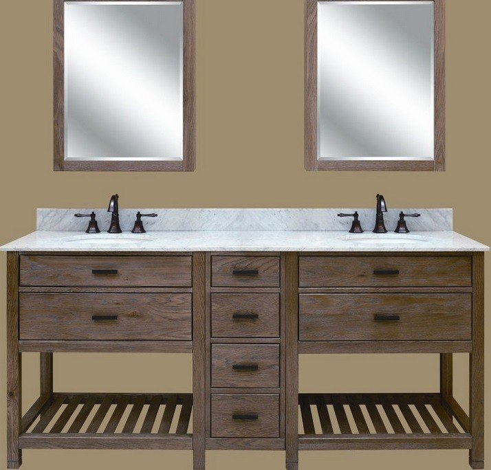 Sagehill Designs Tb3621d Weathered Oak Toby 36 Inch Vanity