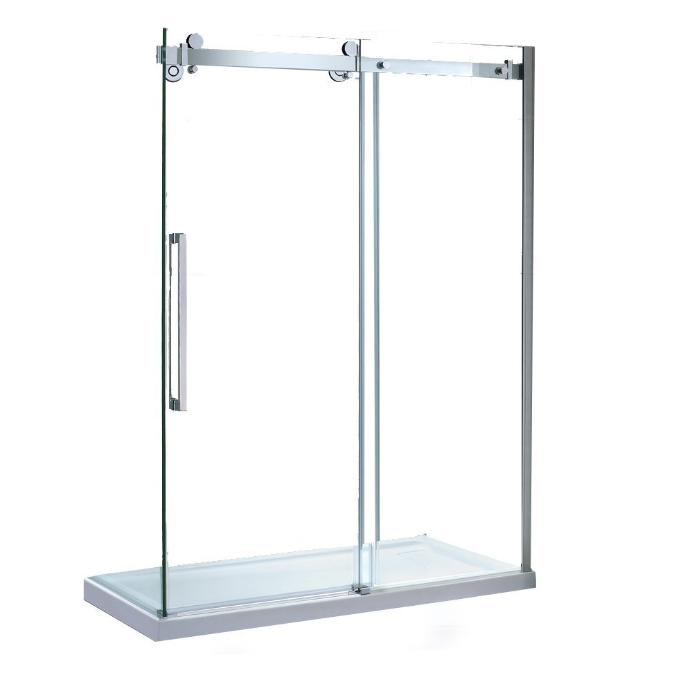 Ove decors 15ska sier60 001wm sierra 60 inch tempered - Wd40 on glass shower doors ...