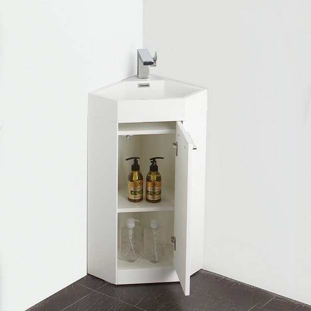 fresca fvn5082wh coda 14 inch white modern corner bathroom