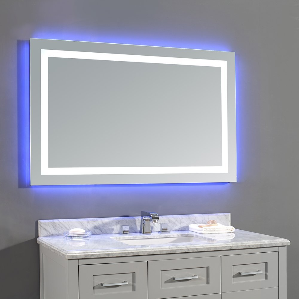 Ove decors 15vmr dl5243 000ga jovian 48 x 28 inch led for Lighted mirror