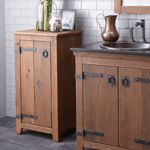 Innovative When Decorating A Tiny Bathroom, There Is Only  And Were Thrilled To Have Some Storage To Be Able To Showcase Some Pretty Things The Original Inspiration Came From Restoration Hardwares Reclaimed Wood Wall Shelves