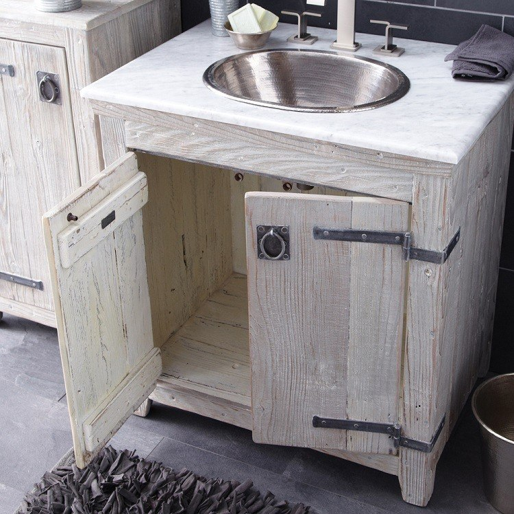 Native trails vnb30 americana 30 inch reclaimed wood bathroom vanity vnb300 vnb301 vnb308 vnb309 for Reclaimed wood vanity bathroom
