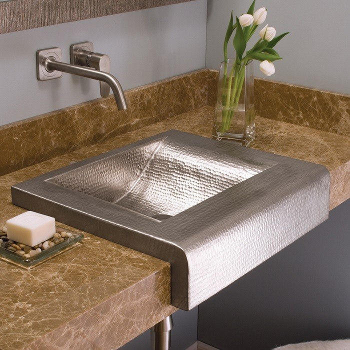 20 Inch Farmhouse Sink : ... CPS41 Palisades 20 Inch Hand Hammered Drop-In Oval Copper Apron Sink
