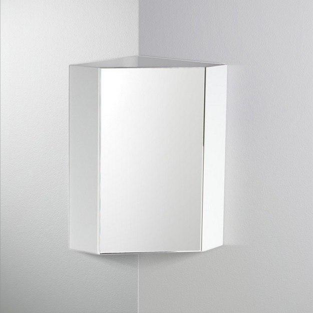 fresca fmc5082wh coda 14 inch white corner bathroom medicine cabinet fresca bathroom medicine. Black Bedroom Furniture Sets. Home Design Ideas