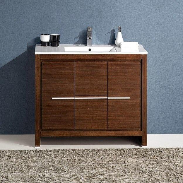wenge brown modern bathroom cabinet with sink fcb8140wg i fcb8140wgi