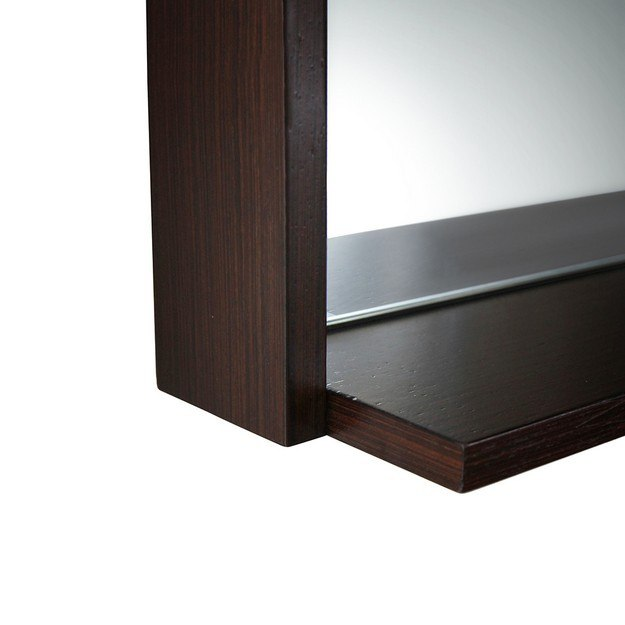 Fresca fmr8140wg allier 40 inch wenge mirror with shelf for Miroir wenge