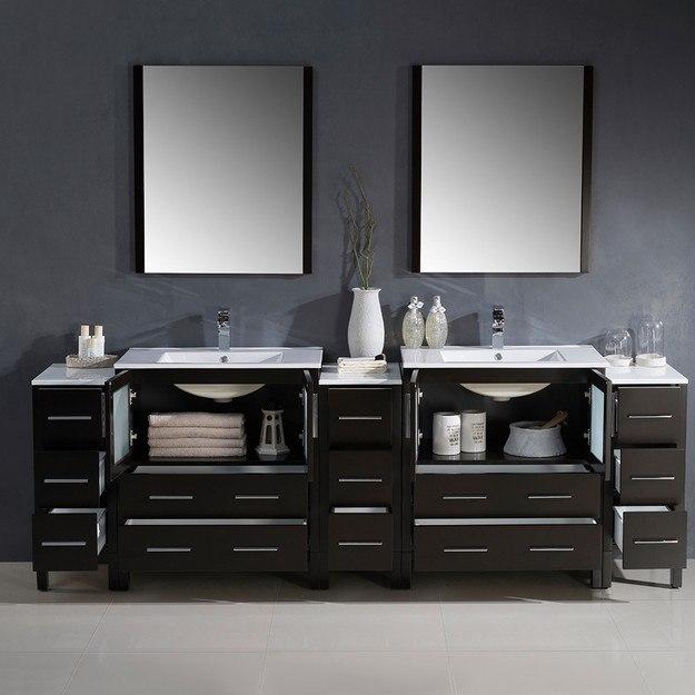 96 Inch Bathroom Vanity Home Depot: Fresca FVN62-96ES-UNS Torino 96 Inch Espresso Modern
