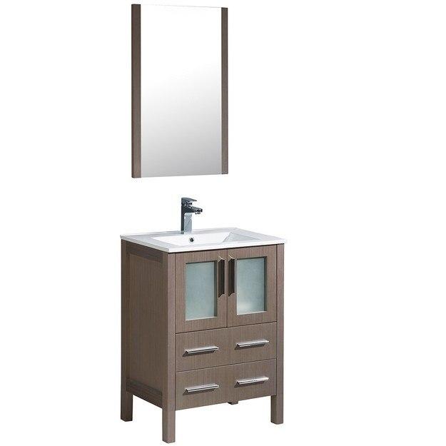 Kitchen Cabinets Honolulu: Fresca FVN6224GO-UNS Torino 24 Inch Gray Oak Modern