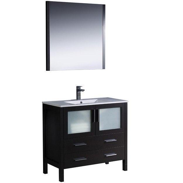 Fresca Fvn6236es Uns Torino Inch Espresso Modern Bathroom Vanity W Undermount Sink