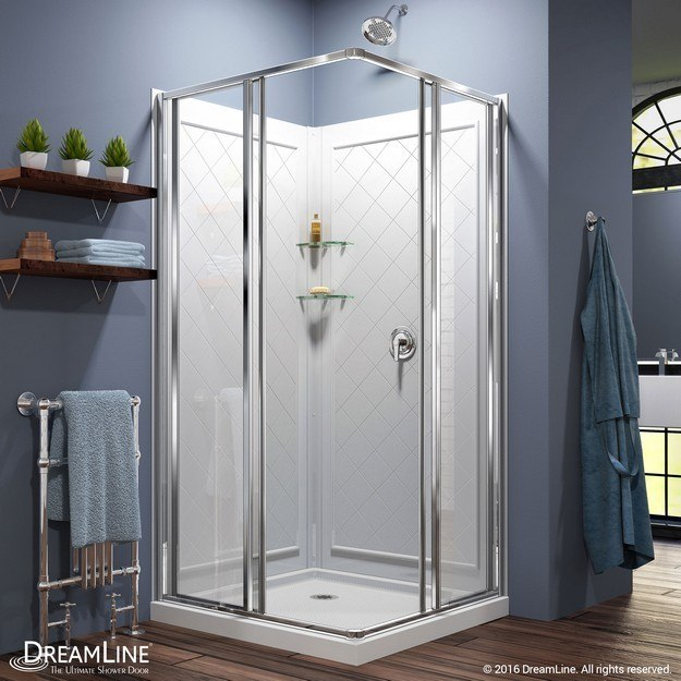 Dreamline Dl 6150 01 Cornerview Framed Sliding Shower