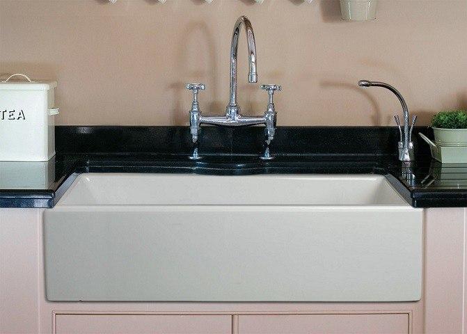 ALFI Brand AB3618HS 36 Inch Smooth Apron Single Bowl Fireclay Farm Sink AB361