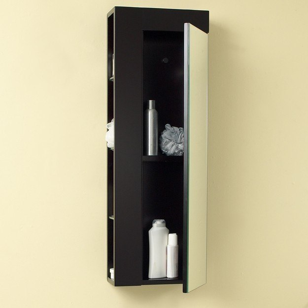 Fresca FST1024ES Espresso Bathroom Linen Side Cabinet W/ Large Mirror Door, Fresca Bathroom