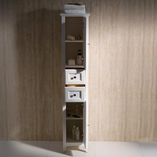Fresca fst2060aw oxford antique white tall bathroom linen cabinet fresca bathroom linen side - Antique bathroom linen cabinets ideas ...