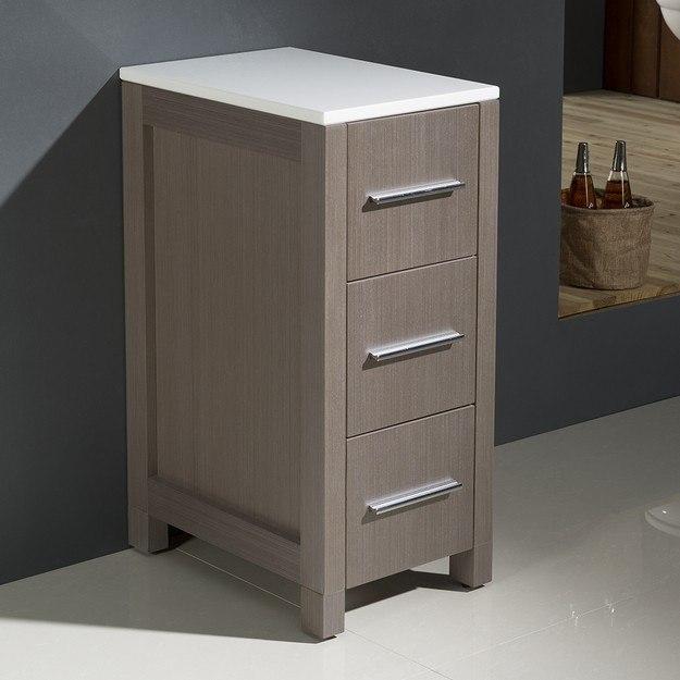 fresca fst6212go torino 12 gray oak bathroom linen side