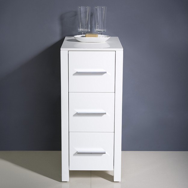 fresca fst6212wh torino 12 inch white bathroom linen side