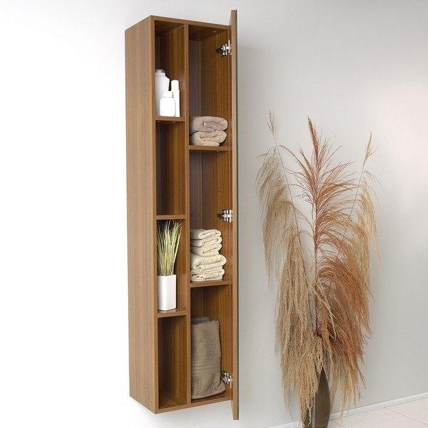 fresca fst8070tk teak bathroom linen side cabinet w 4