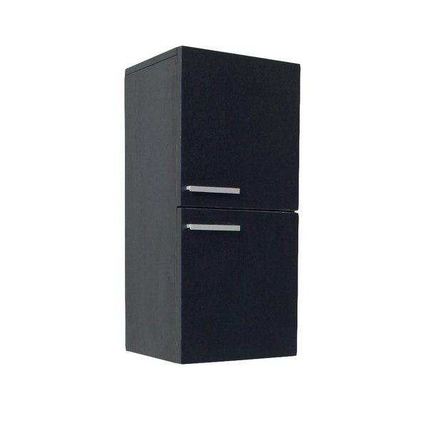 fresca fst8091bw black bathroom linen side cabinet w 2