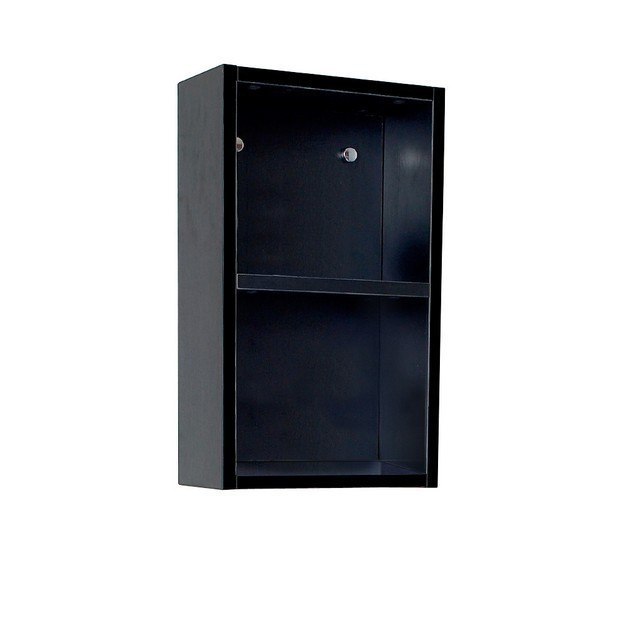 Fresca FST8092BW Black Bathroom Linen Side Cabinet W/ 2 Open Storage Areas, Fresca Bathroom