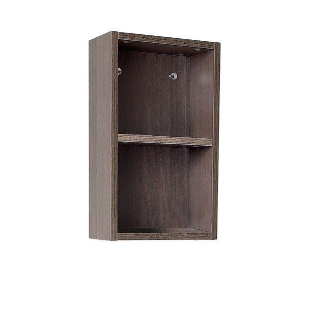 fst8092go gray oak bathroom linen side cabinet w 2 open storage areas