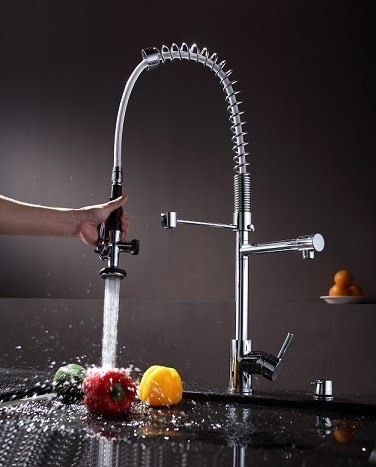 Where Are Kraus Faucets Made : Kraus KPF-1602 Single Lever Pull Out Kitchen Faucet KPF-1602 KPF1602 ...