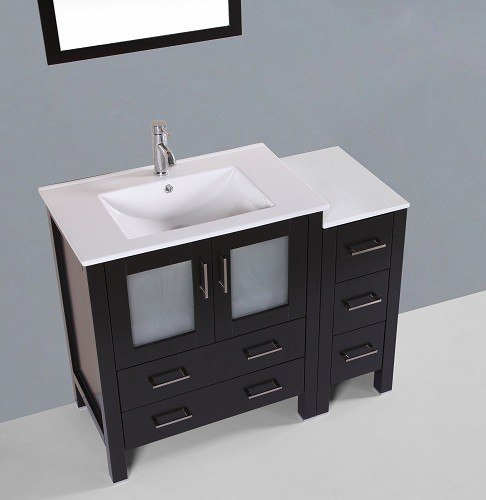 Bosconi Ab130u1s 42 Inch Single Vanity In Espresso Finish