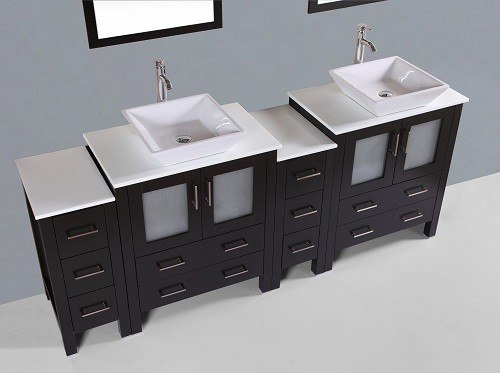 Bosconi Ab230s2s 84 Inch Double Vanity In Espresso Finish