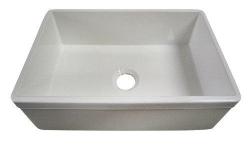 30 Inch Fireclay Farmhouse Sink : Decorative Lip 30 Inch Single Bowl Fireclay Farmhouse Kitchen Sink ...