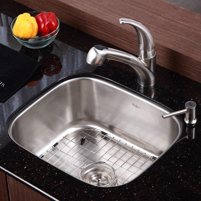 20 Inch Kitchen Sink : Kraus KBU11 20 Inch Undermount 16 Gauge Single Bowl Kitchen Sink