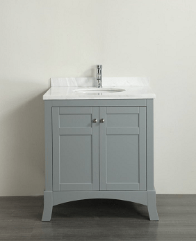 Eviva evvn514 30gr new york 30 inch grey bathroom vanity for Gray 30 inch bathroom vanity