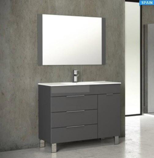 28 Inch Bathroom Vanity With Sink: Eviva EVVN530-28GR Geminis 28 Inch Grey Modern Bathroom